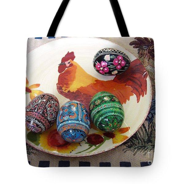 Ukrainian Pysanka Tote Bag by Jim Sauchyn