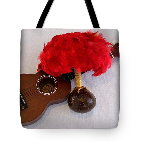 Ukulele And Uliuli Tote Bag by Mary Deal