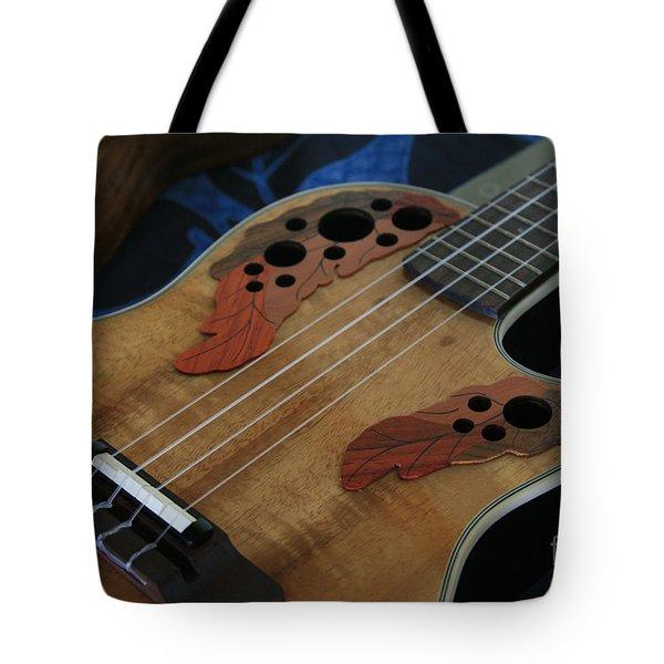 Ukulele Tote Bag by Sharon Mau