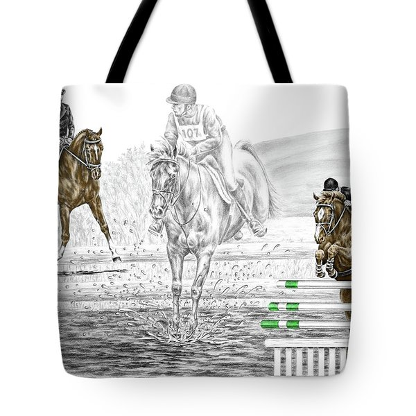 Ultimate Challenge - Horse Eventing Print Color Tinted Tote Bag