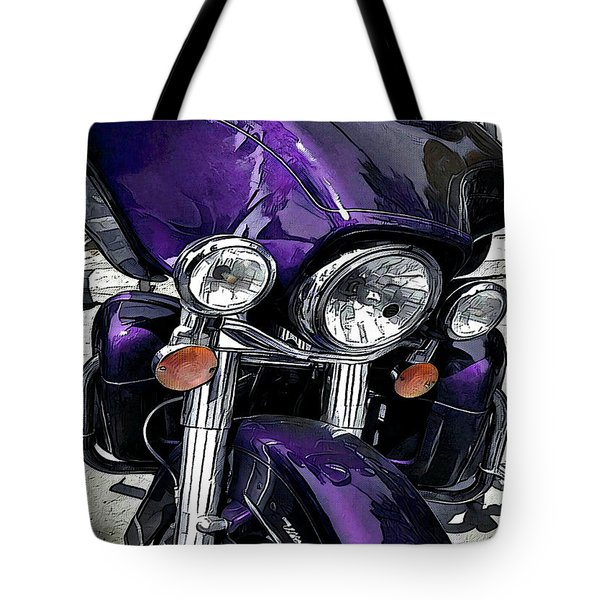 Tote Bag featuring the digital art Ultra Purple by David Manlove