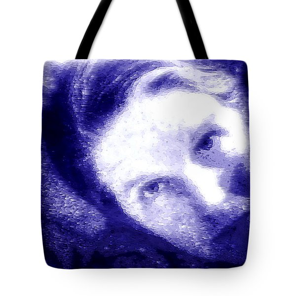 Tote Bag featuring the digital art Ultra Violet Selfie by Shelli Fitzpatrick