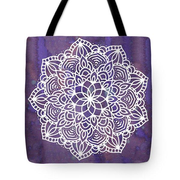 Ultraviolet Mandala Tote Bag