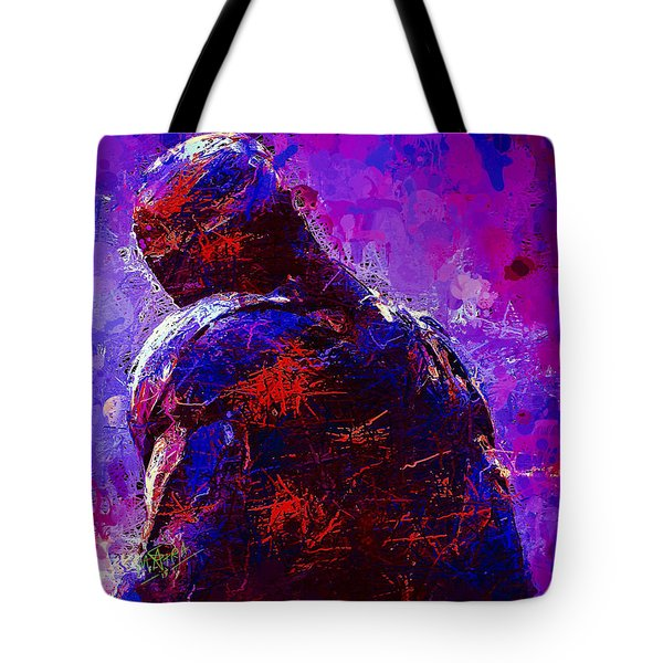 Tote Bag featuring the mixed media Ultron by Al Matra