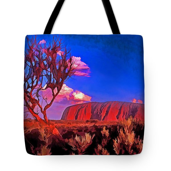 Uluru Tote Bag by Dennis Cox WorldViews