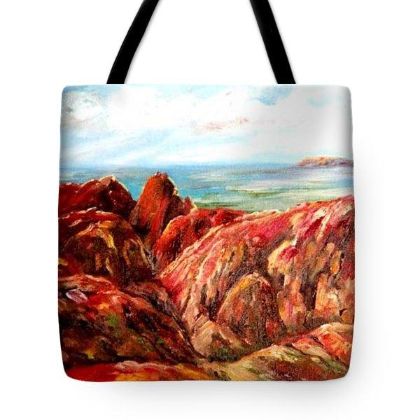 Uluru Viewed From Kata Tjuta Tote Bag