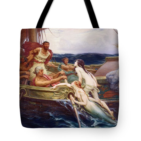 Ulysses And The Sirens Tote Bag by Herbert James Draper