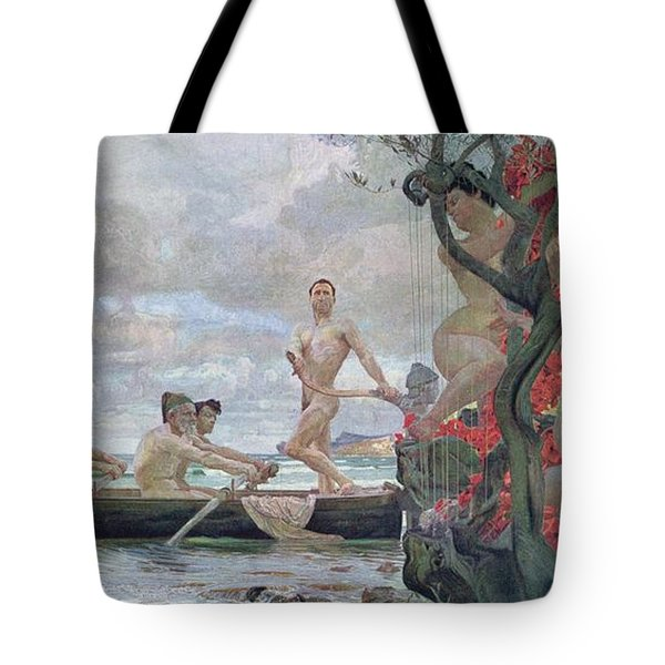 Ulysses And The Sirens Tote Bag by Otto Greiner