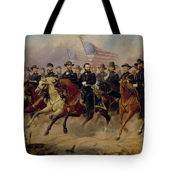 Ulysses S Grant And His Generals Tote Bag