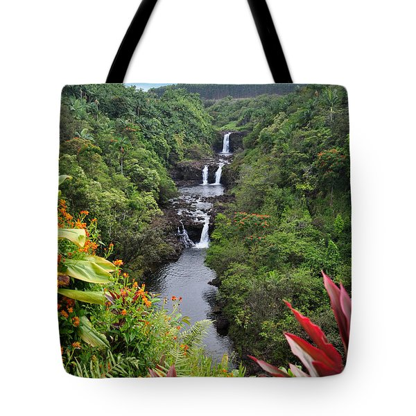 Umauma Falls Hawaii Tote Bag