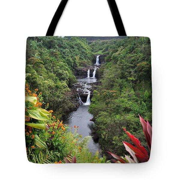 Umauma Falls Tote Bag by Denise Bird