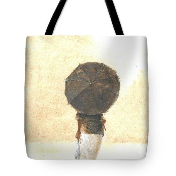 Umbrella And Fish Two Tote Bag