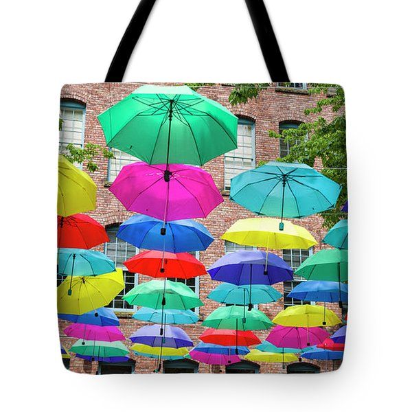 Tote Bag featuring the photograph Umbrella Art by Ross G Strachan