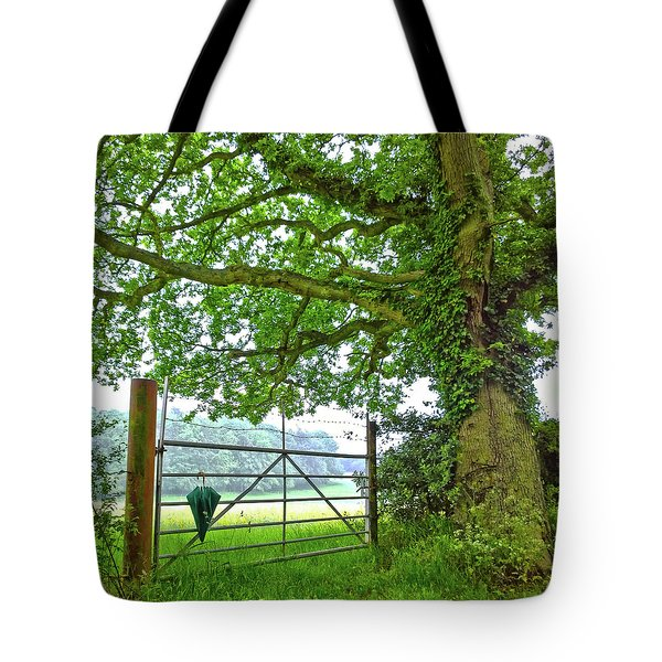 Umbrella At The Ready Tote Bag by Anne Kotan