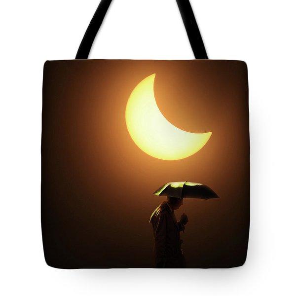 Umbrella Man Eclipse Tote Bag