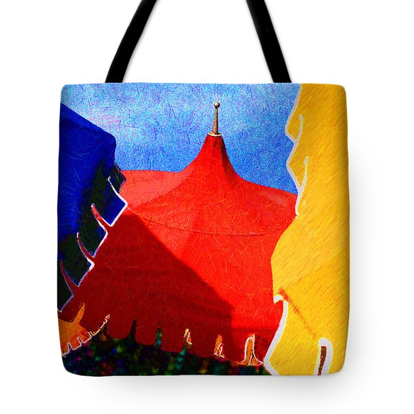 Umbrella Party Tote Bag by Paul Wear