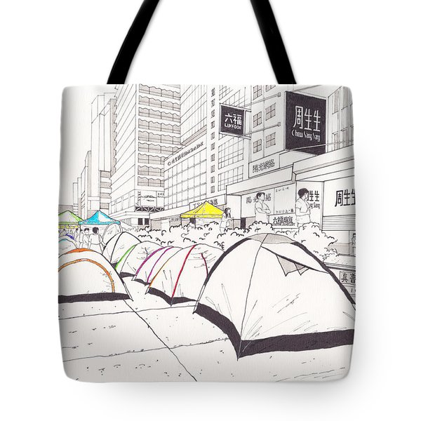 Umbrella Revolution 1 Hk 2014 Tote Bag