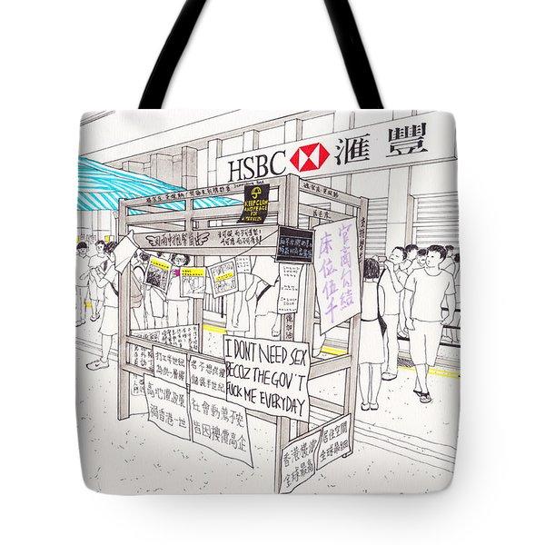 Umbrella Revolution 2 Hk 2014 Tote Bag