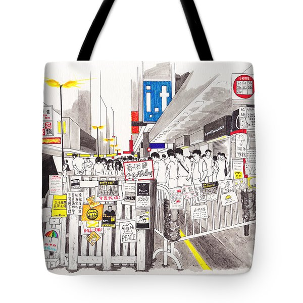 Umbrella Revolution 6 Hk 2014 Tote Bag