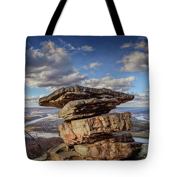 Umbrella Rock Overlooking Moccasin Bend Tote Bag