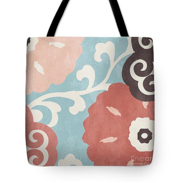Umbrella Skies I Suzani Pattern Tote Bag