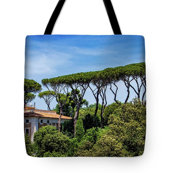 Umbrella Trees In Rome Tote Bag