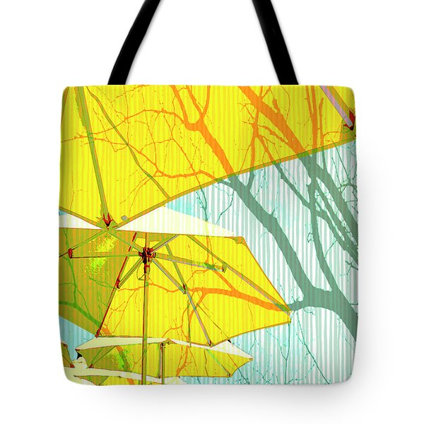 Umbrellas Yellow Tote Bag