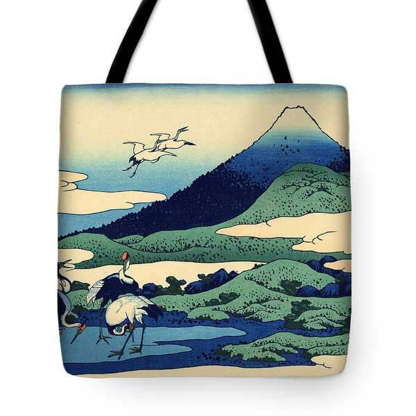Umegawa In Sagami Province, One Of Thirty Six Views Of Mount Fuji Tote Bag