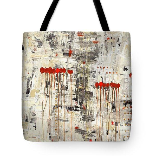 Tote Bag featuring the painting Un Pour Tous by Carmen Guedez
