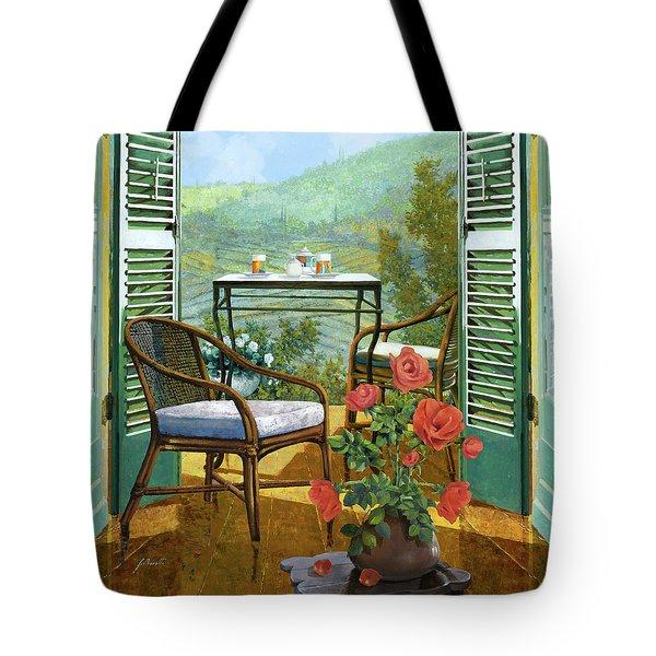 Un Vaso Di Rose Tote Bag