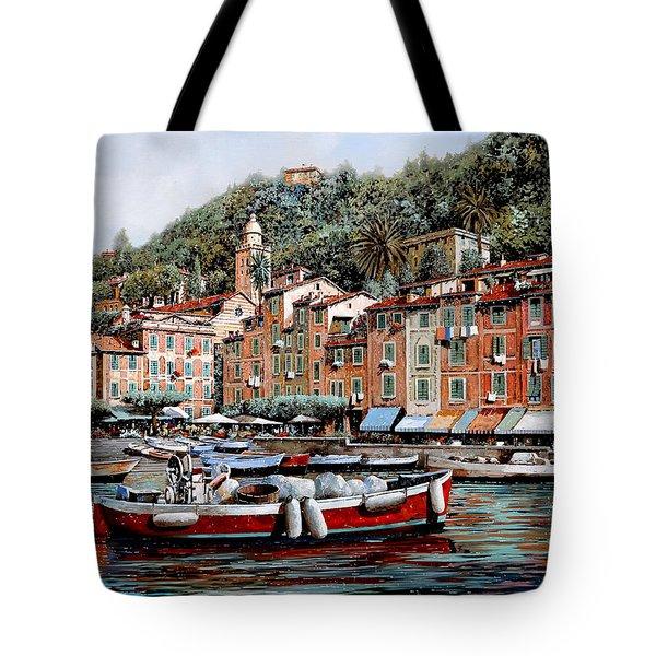 Una Lunga Barca Rossa Tote Bag