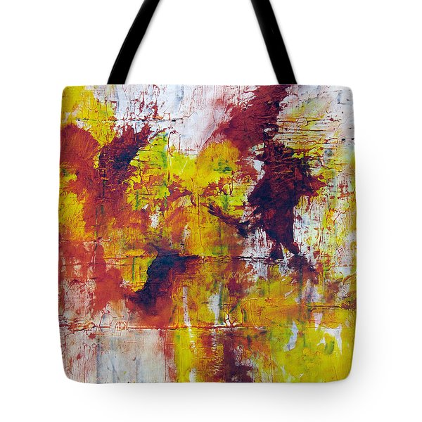 Tote Bag featuring the painting Unafraid by Rick Baldwin
