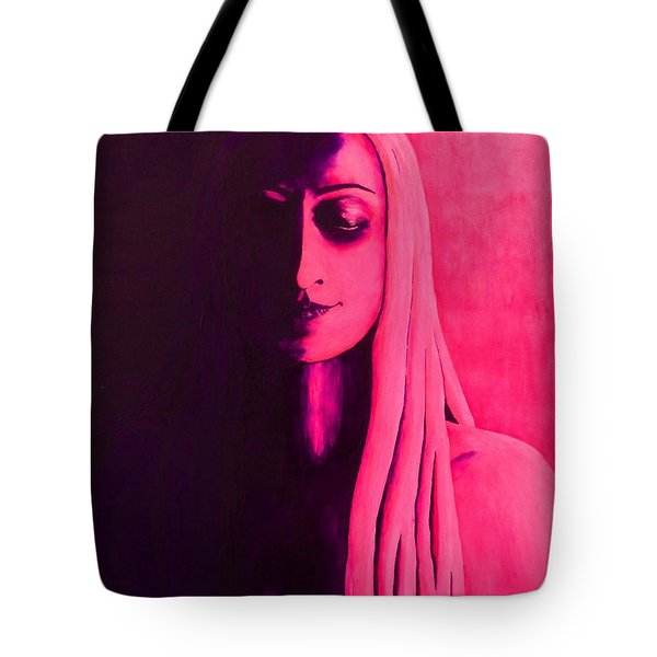 Unanswered In Pink And Purple Tote Bag