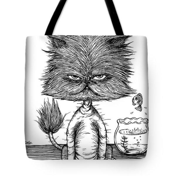 Unbalance Cat Tote Bag