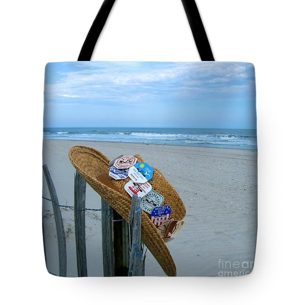 Uncle Carl's Beach Hat Tote Bag by Nancy Patterson