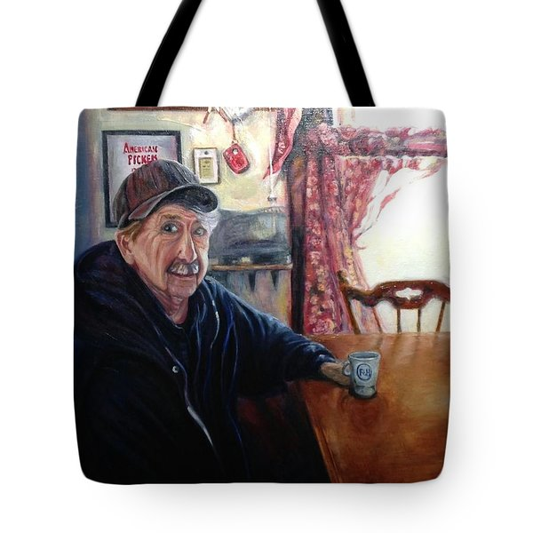 Tote Bag featuring the painting Uncle Harold, Maquoketa, Iowa by J Reynolds Dail
