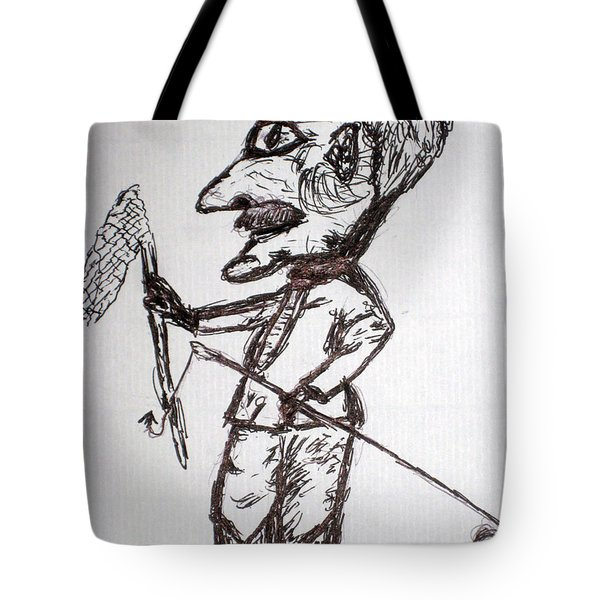 Uncle Lubby And His Habbit Tote Bag by Robert Margetts