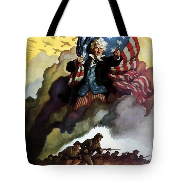 Uncle Sam - Buy War Bonds Tote Bag