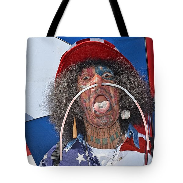 Uncle Sam Tote Bag by Tobeimean Peter