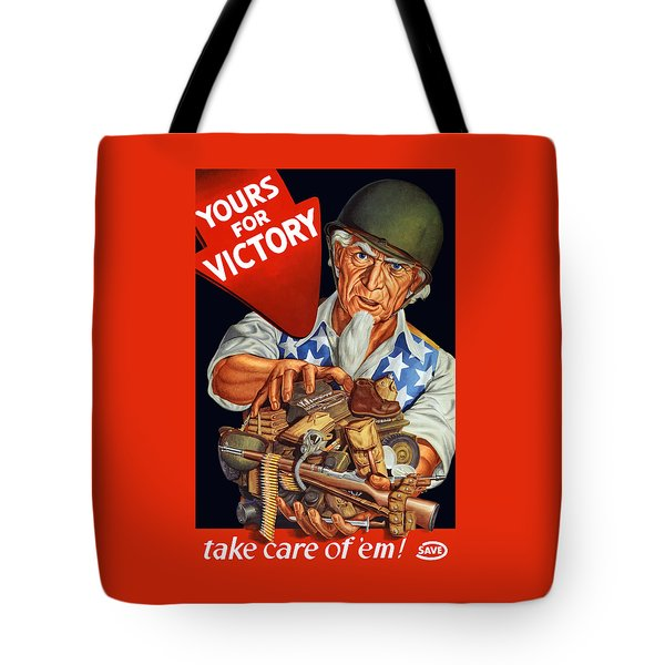 Uncle Sam - Yours For Victory Tote Bag by War Is Hell Store