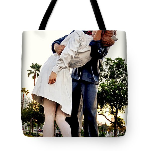 Unconditional Surrender Statue - Sarasota 001 Tote Bag by George Bostian