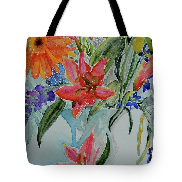 Tote Bag featuring the painting Uncontainable by Beverley Harper Tinsley