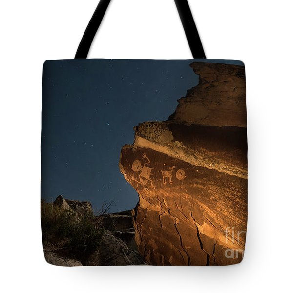 Tote Bag featuring the photograph Uncounted Years Under The Moonlight by Melany Sarafis
