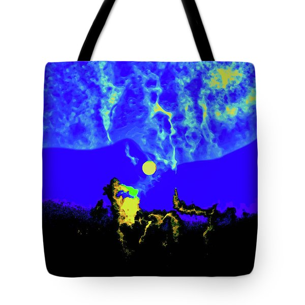 Under A Full Moon Tote Bag