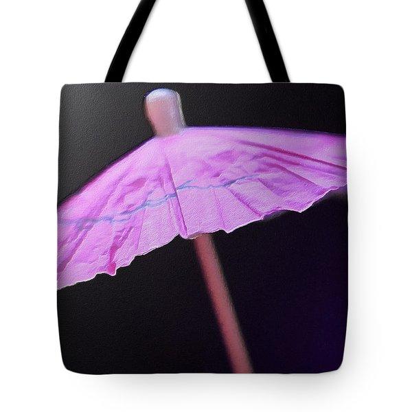 Under A Pink Umbrella Tote Bag