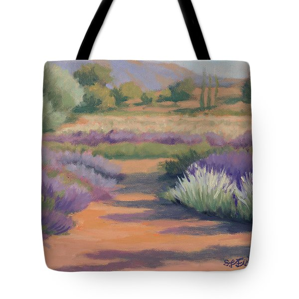 Under A Summer Sun In Lavender Fields Tote Bag