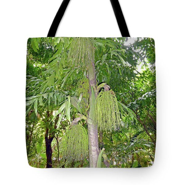 Tote Bag featuring the photograph Under A Tropical Tree by Francesca Mackenney