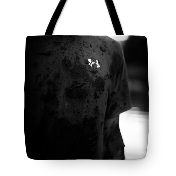 Under Armour Black And White Tote Bag by Scott Sawyer