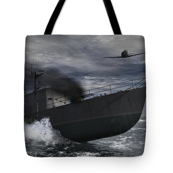 Under Attack Tote Bag by Richard Rizzo