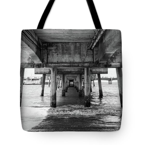 Under Belmont Veterans Memorial Pier Tote Bag